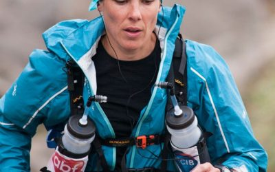 Portrait d'athlète avec le masque HYPNOS – Emmanuelle GLAUDY